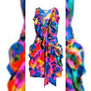 H&M Garden collection floral multicolor Dress 12